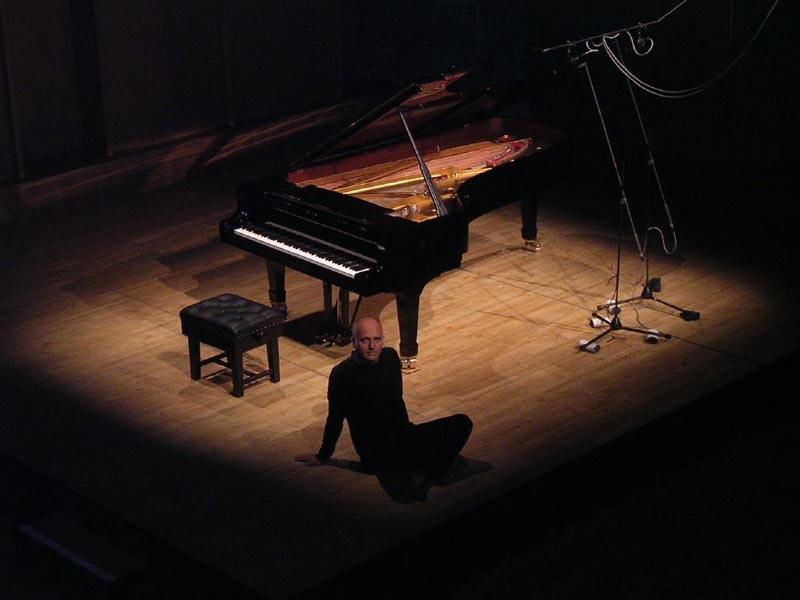Ludovico Einaudi with piano
