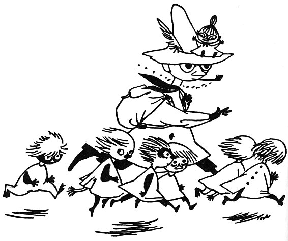 Snufkin and the Woodies