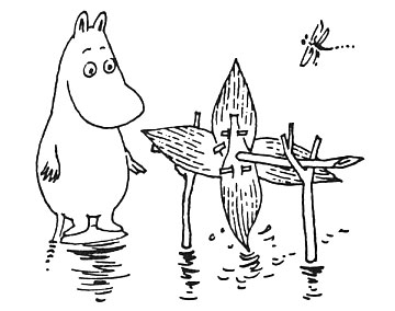 Moomintroll and Hodgkins' Water Wheel