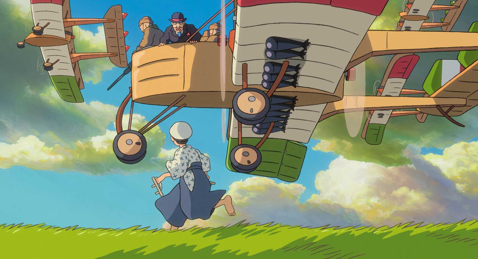 Jiro Horikoshi and Caproni's airplane in The Wind Rises by Hayao Miyazaki