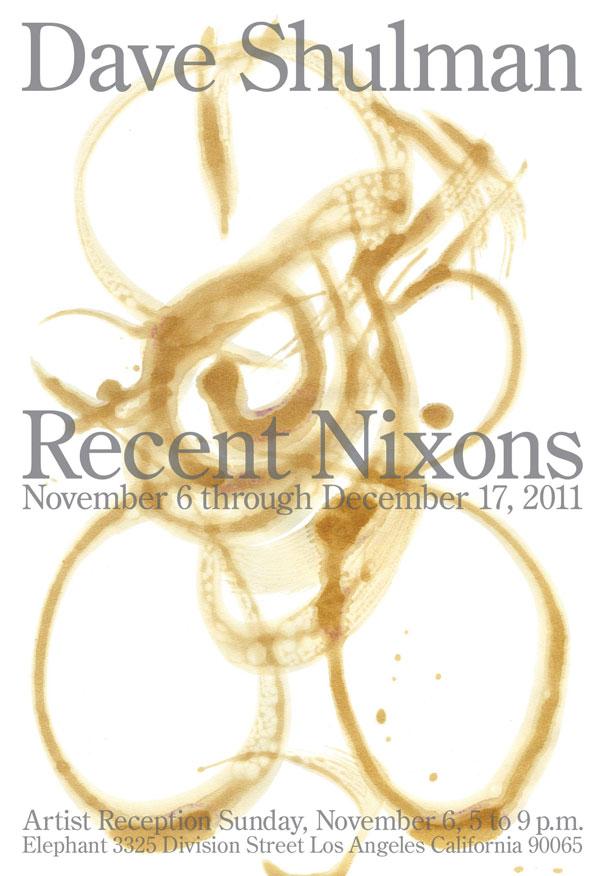 Dave Shulman, Richard Nixon